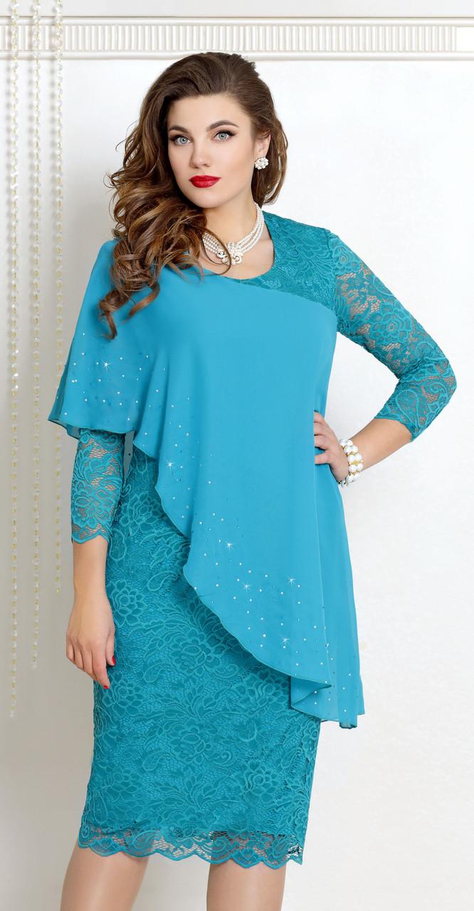 Платье Vittoria Queen-9073, бирюзовый, 52
