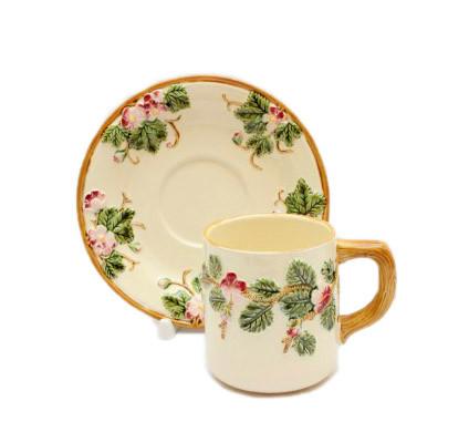 Чайная пара Bianco. Ручная работа, Италия, керамика