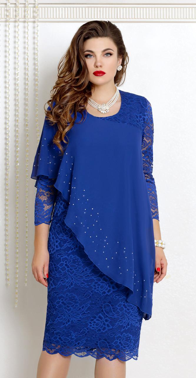 Платье Vittoria Queen-9073/1, василек, 52