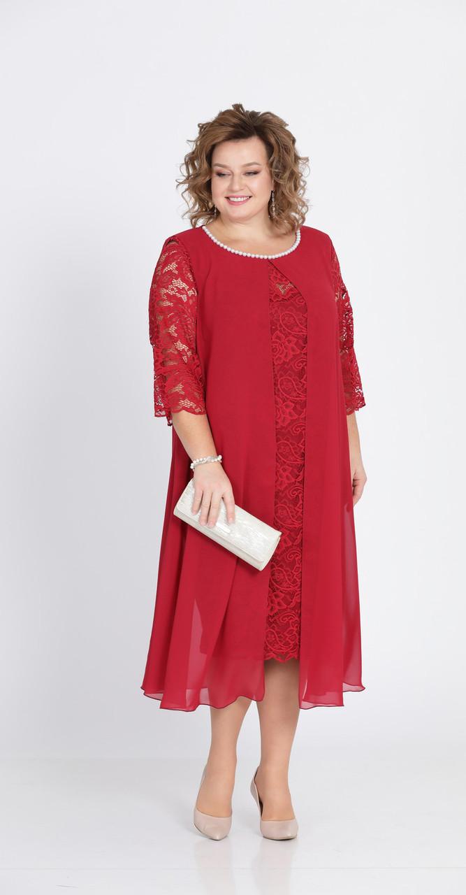 Платье Pretty-749/1, красный, 56