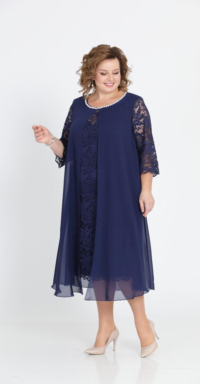 Платье Pretty-749/2, темно-синий, 56
