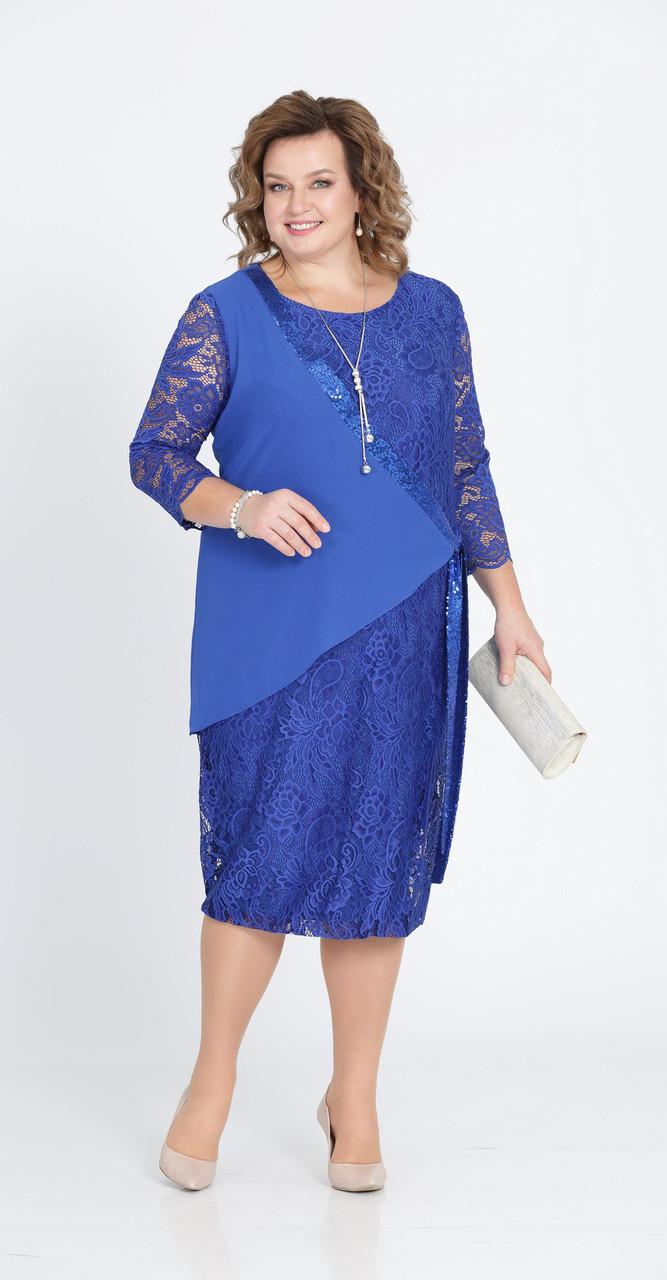 Платье Pretty-803/1, василек, 56