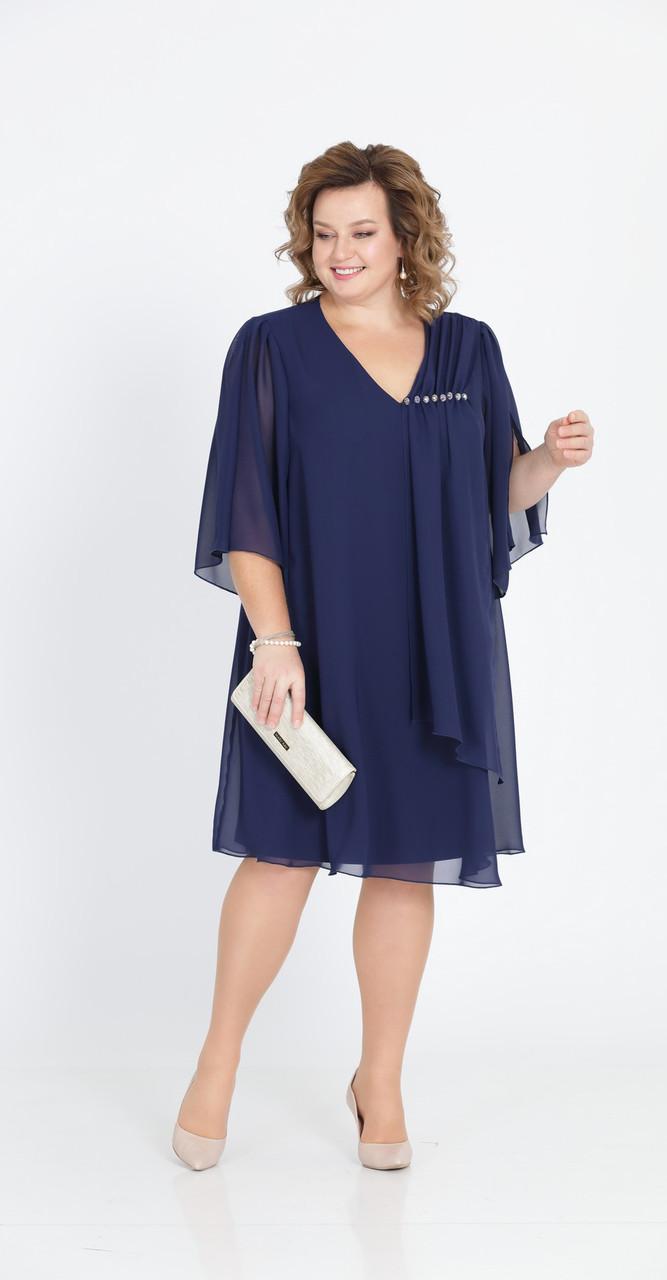 Платье Pretty-805, темно-синий, 50