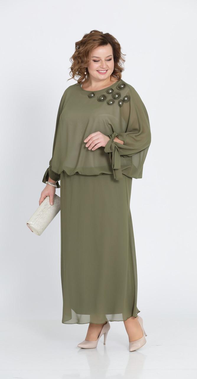 Платье Pretty-814/3, хаки, 56