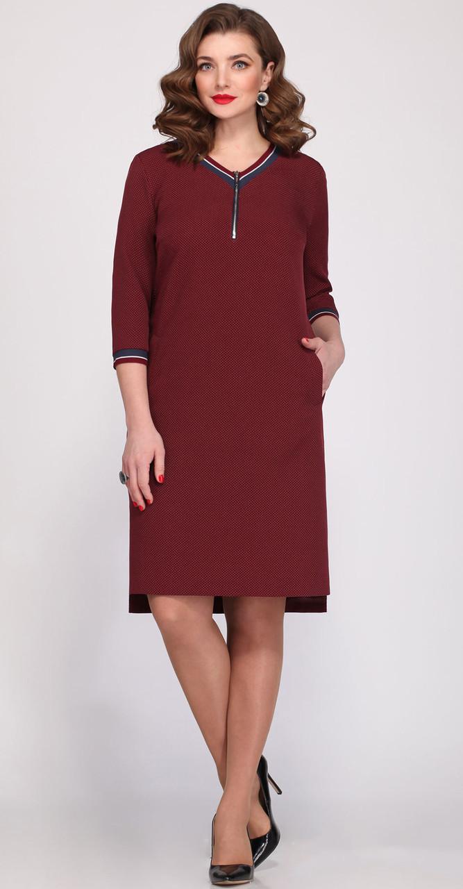 Платье Matini-31151/2, бордо, 52