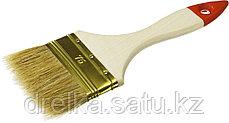 """Кисти плоские ЗУБР """"УНИВЕРСАЛ-ОПТИМА"""", светлая щетина, деревянная ручка, фото 3"""