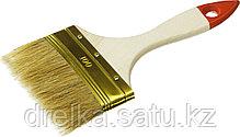 """Кисти плоские ЗУБР """"УНИВЕРСАЛ-ОПТИМА"""", светлая щетина, деревянная ручка, фото 2"""