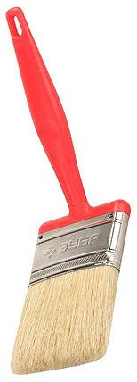 """Кисти плоские ЗУБР """"БСГ-50"""", с быстросъемной головой, натуральная щетина, пластмассовая ручка, фото 2"""