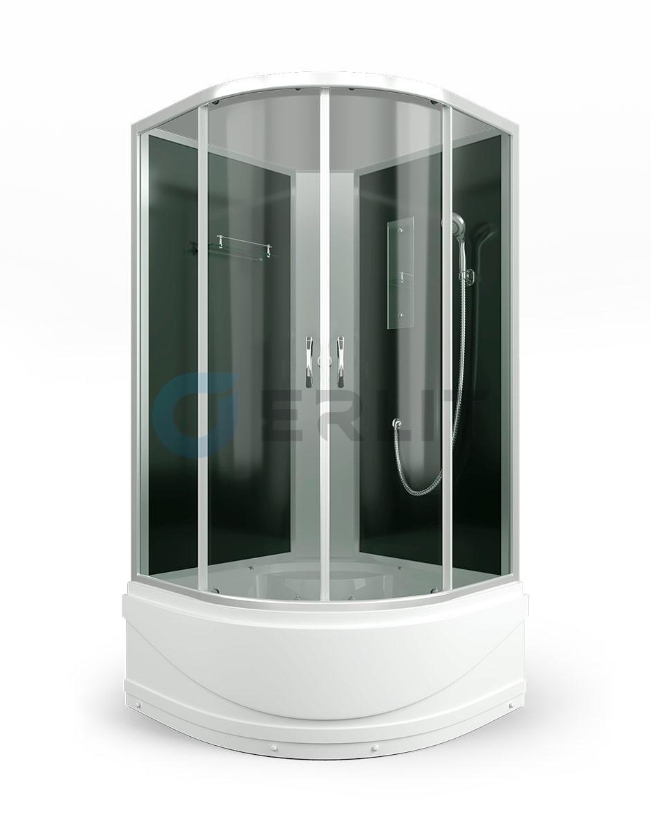 Душевая кабина ERLIT  ER3509TPЕ-C4 900*900*1950 высокий поддон,тонированное стекло (без крыши)