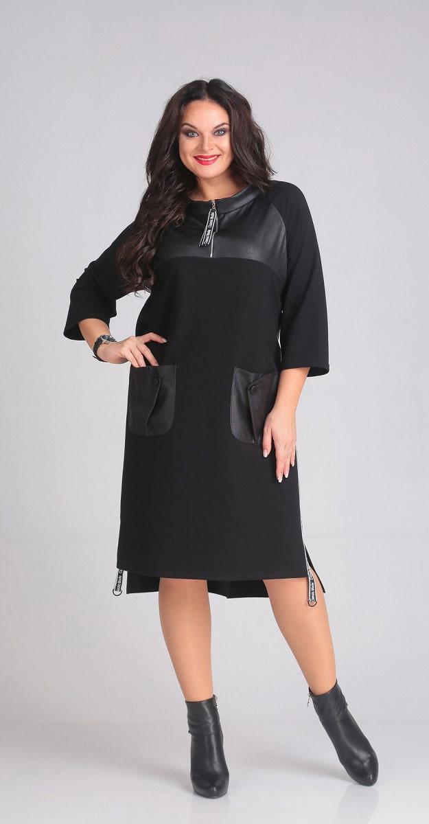 Платье Andrea Style-00115, черный, 58