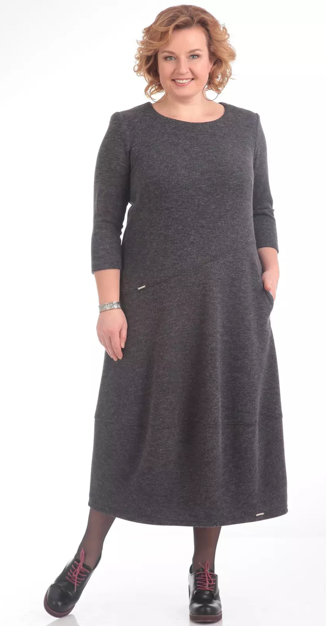 Платье Pretty-657/1, серый, 56