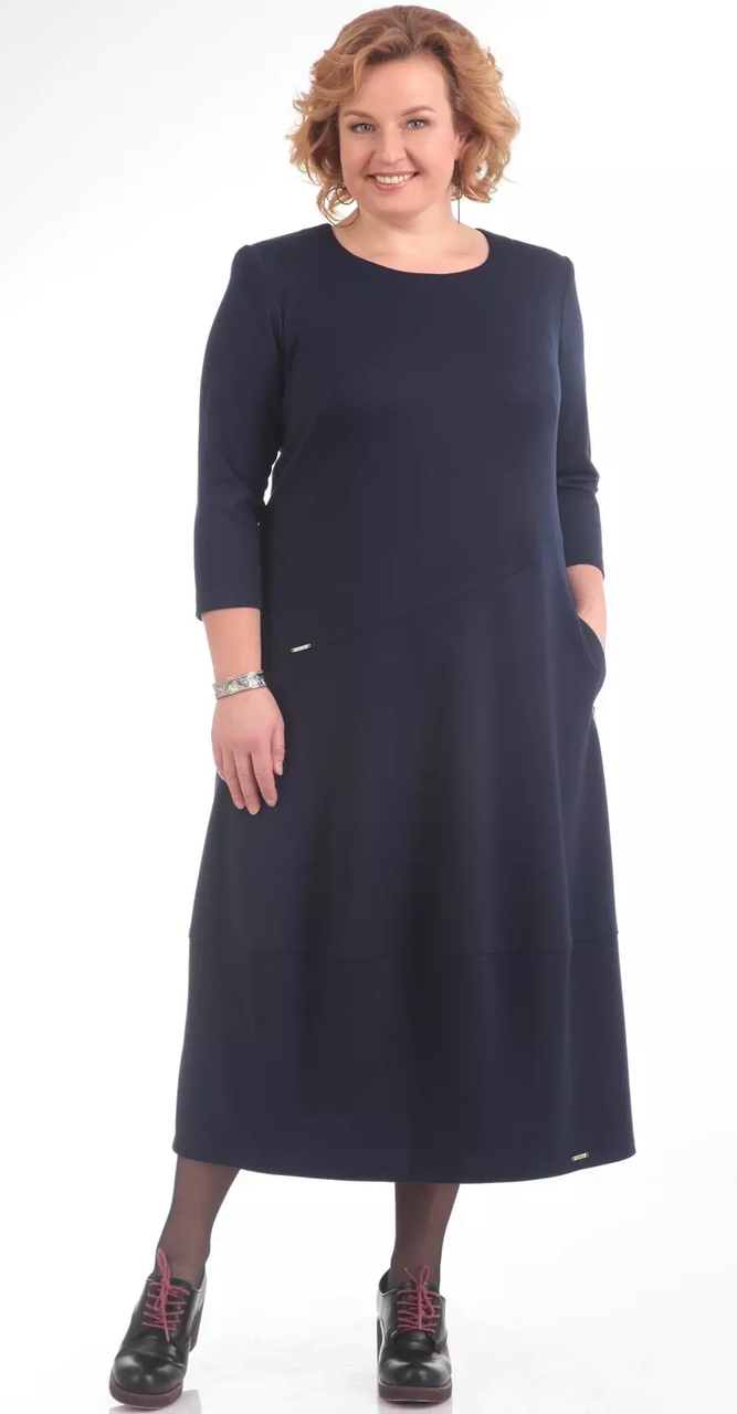 Платье Pretty-657/2, темно-синий, 56