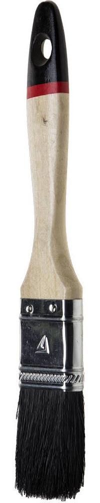 """Кисти плоские STAYER """"UNIVERSAL-EURO"""", чёрная натуральная щетина, деревянная ручка"""