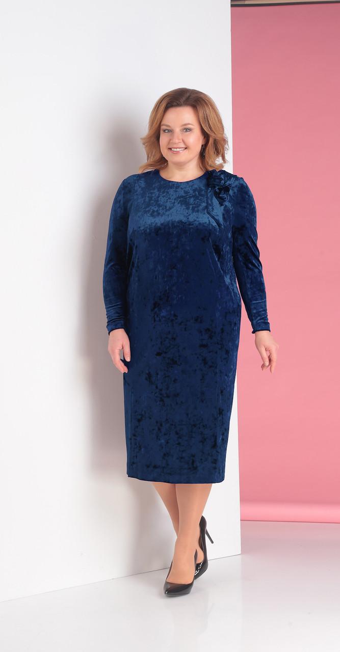 Платье Novella Sharm-3152-2, синий, 58