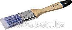 """Кисти плоские STAYER """"EURO"""", """"AQUA"""" для воднодисперсионных и акриловых ЛКМ, искусств щетина, деревян ручка"""