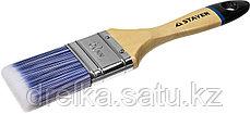 """Кисти плоские STAYER """"EURO"""", """"AQUA"""" для воднодисперсионных и акриловых ЛКМ, искусств щетина, деревян ручка, фото 2"""