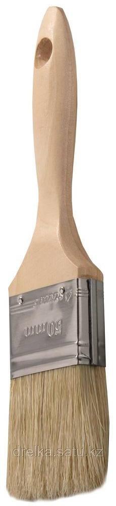 """Кисти плоские STAYER """"UNIVERSAL-LUX"""", светлая натуральная щетина, деревянная ручка"""