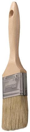 """Кисти плоские STAYER """"UNIVERSAL-LUX"""", светлая натуральная щетина, деревянная ручка, фото 2"""