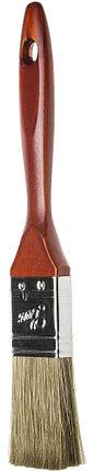 """Кисти плоские STAYER """"LASUR - LUX"""", деревянная ручка, смешанная щетина, фото 2"""