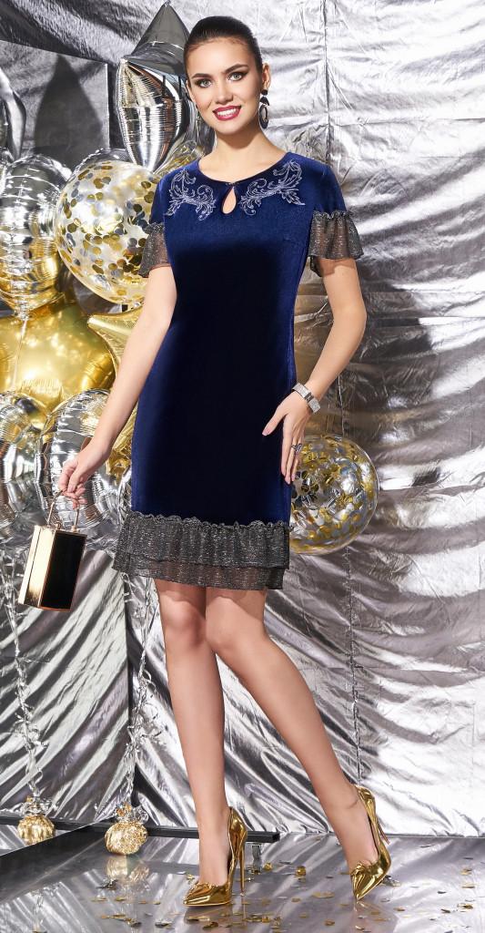 Платье Lissana-3557, синий, 52