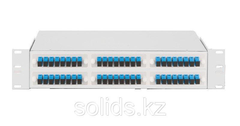 Оптический кросс 2U укомплектованный на 24 порта SC/UPC