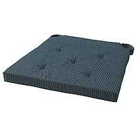 Подушка на стул ЮСТИНА темно-синий в полоску ИКЕА, IKEA
