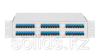 Оптический кросс 2U укомплектованный на 48 портов LC/UPC