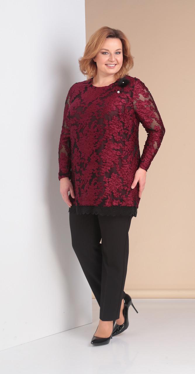 Костюм Novella Sharm-3158-1, бордо с черным, 68