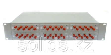 Оптический кросс 2U укомплектованный на 24 порта FC/UPC