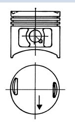 Поршни M102(89,00mm)(KS)(93 613 700)(стд)