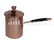 Турка для кофе с крышкой и прорезиненной ручкой (720мл)