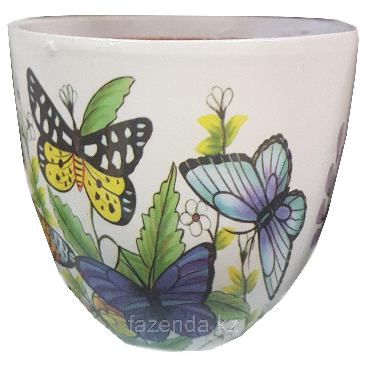 Горшок керамический Бабочки
