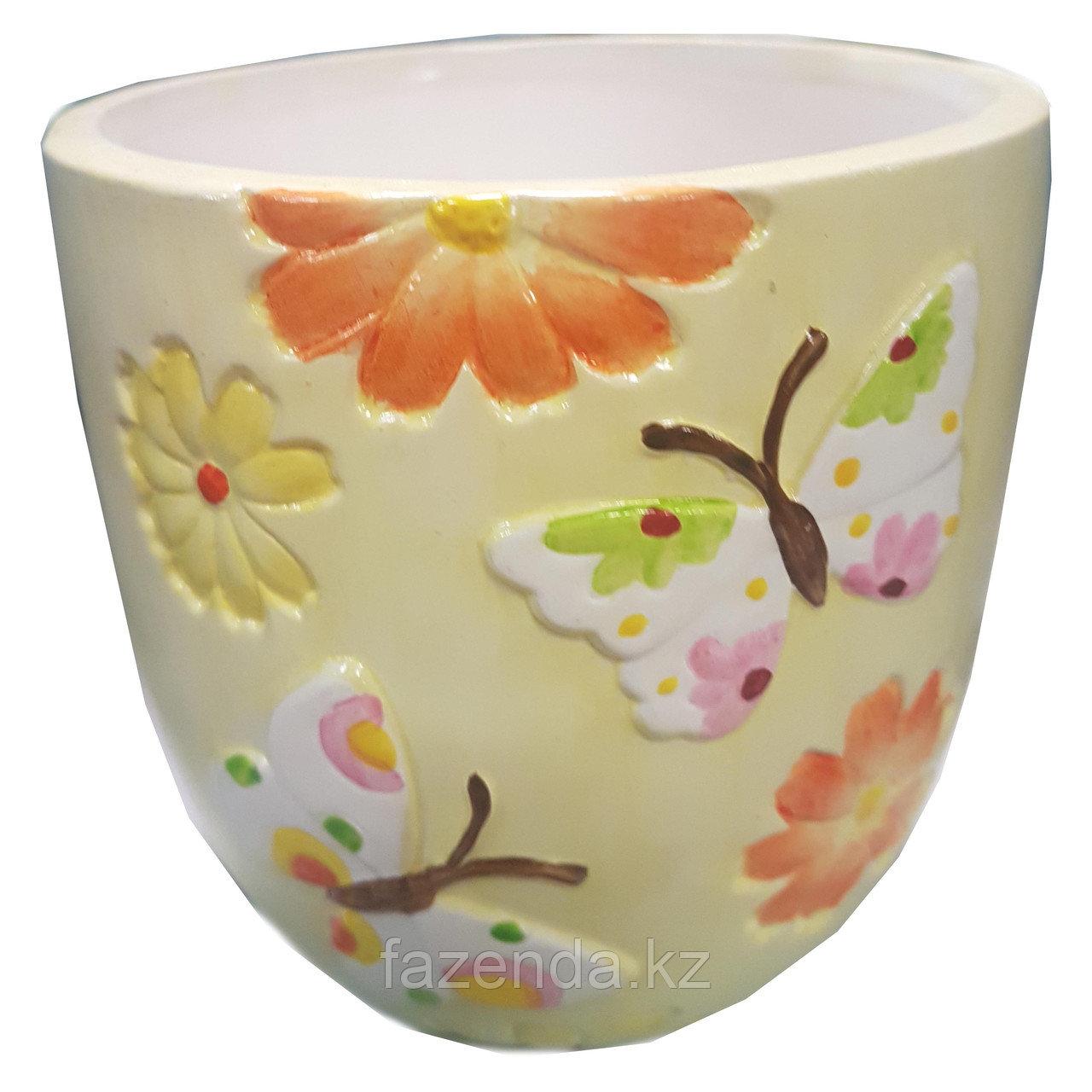 Горшок для цветов керамический Полянка 14,5х14см