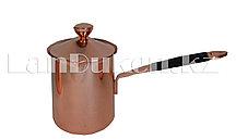 Турка для кофе с крышкой и прорезиненной ручкой (360мл)