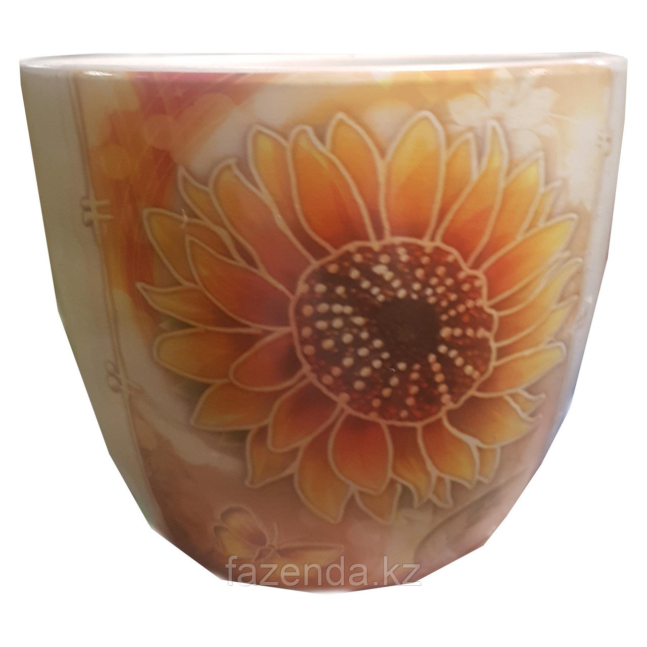 Горшок для цветов керамический Подсолнух 15х13см