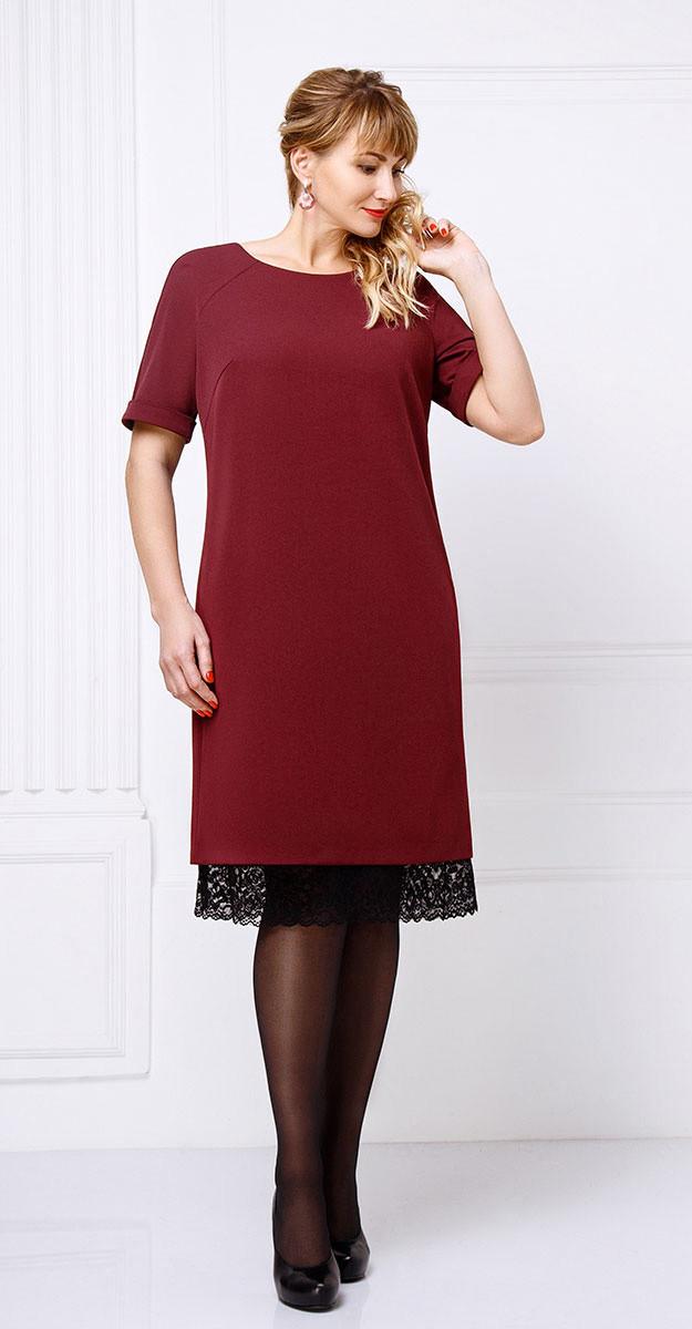 Платье Swallow-085, бордо, 52