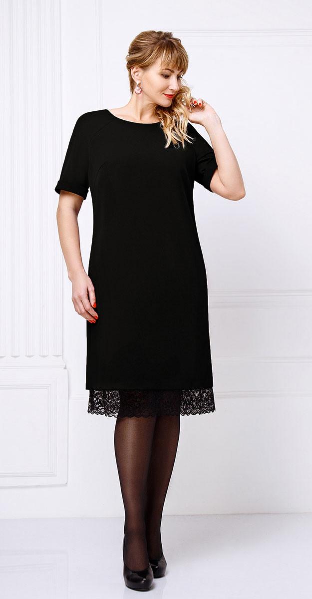 Платье Swallow-085/1, черный, 52