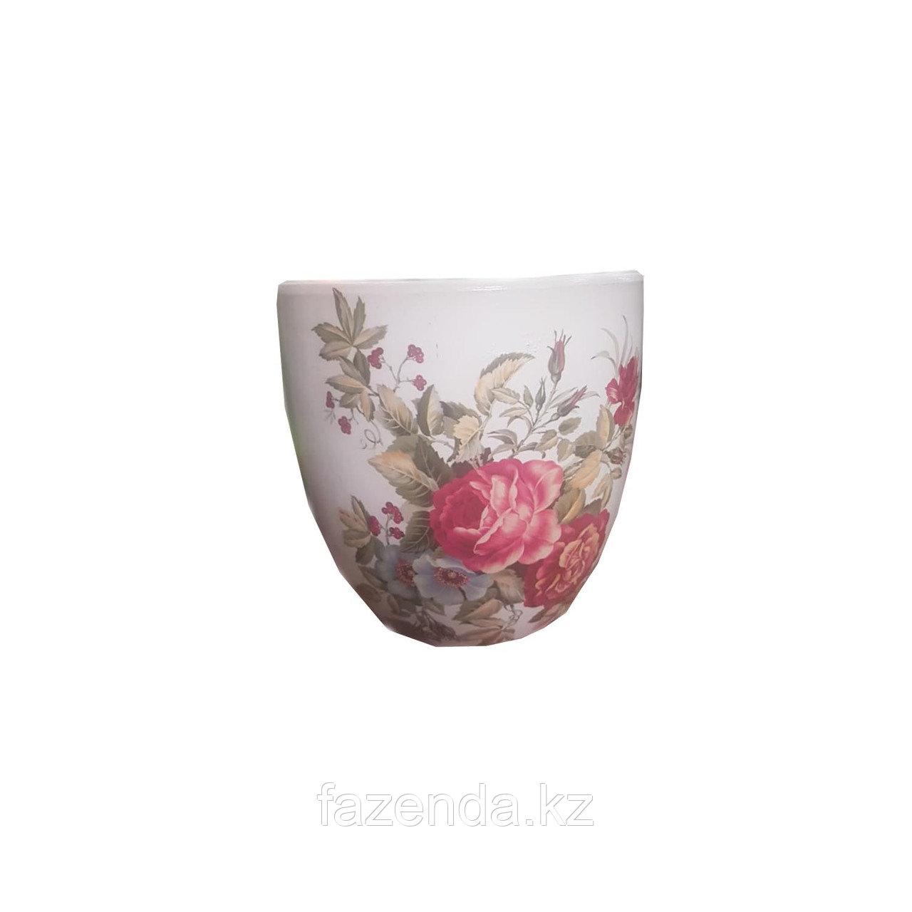 Горшок для цветов керамический Розовый куст
