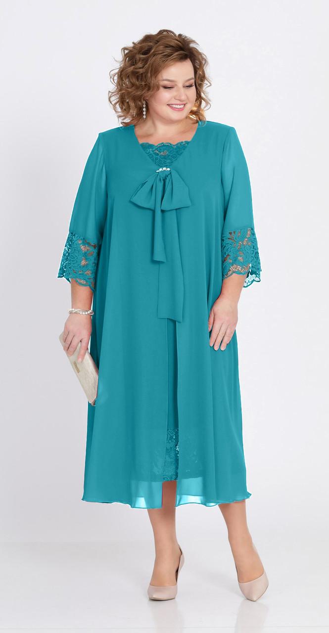 Платье Pretty-802/2, бирюза, 56