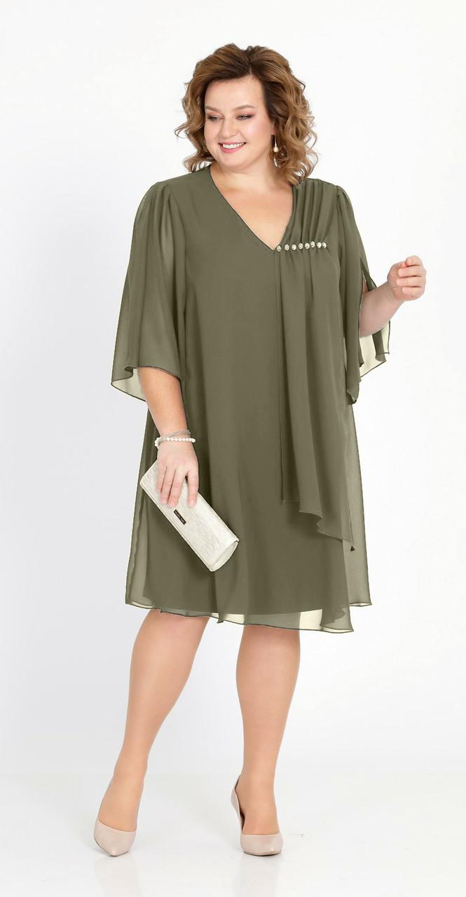 Платье Pretty-805/4, хаки, 50
