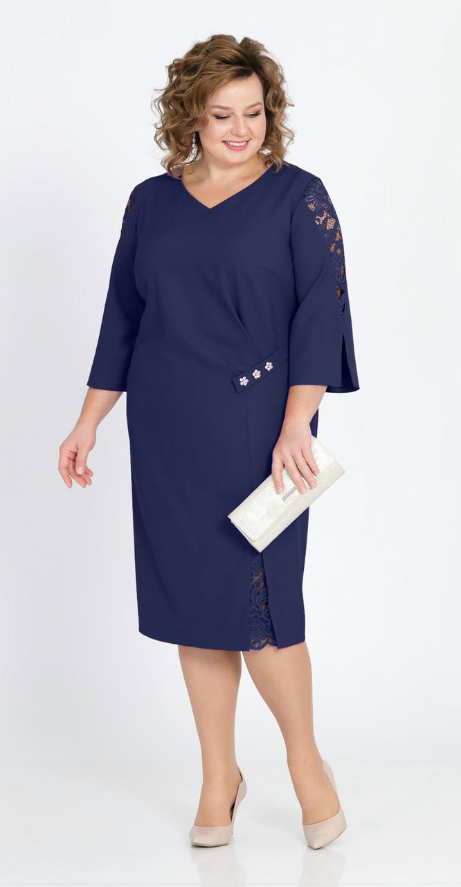 Платье Pretty-807/1, темно-синий, 56