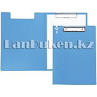 Папка планшет А4 с зажимом (голубая)