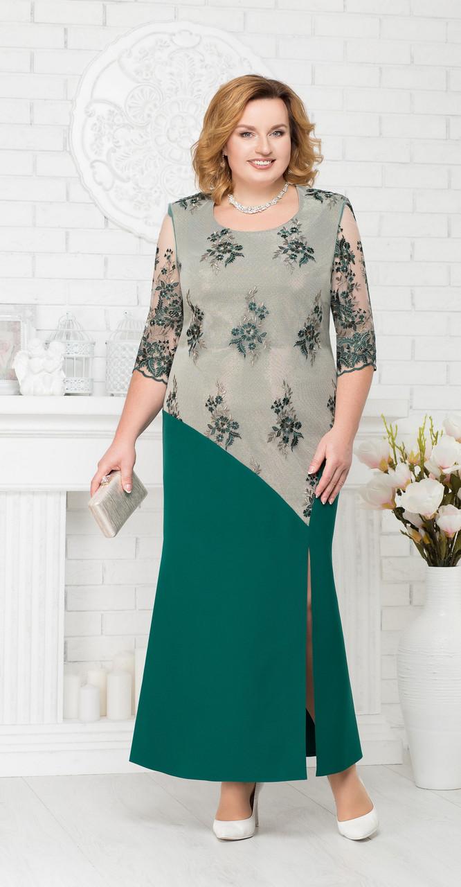 Платье Ninele-2190, изумрудный, 54