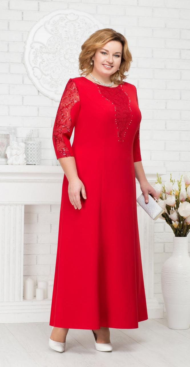 Платье Ninele-5682/1, красный, 54