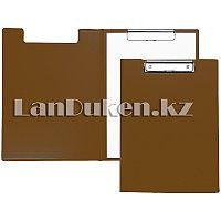 Папка планшет А4 с зажимом (коричневая)