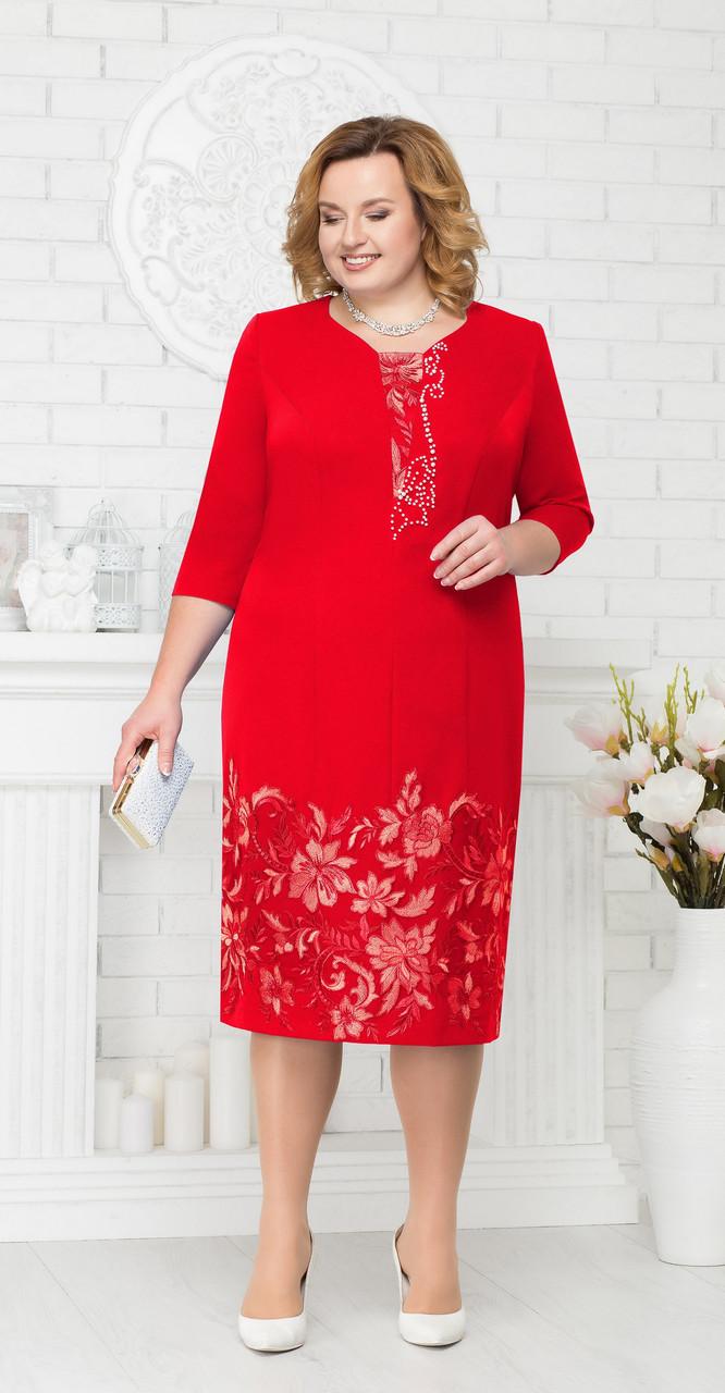 Платье Ninele-5698/1, красный, 56