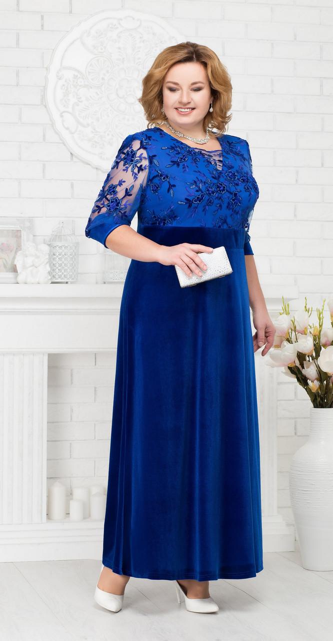 Платье Ninele-7219, васильковый, 56