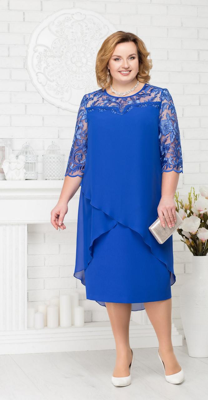 Платье Ninele-7221, васильковый, 56