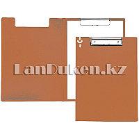 Папка планшет А4 с зажимом (оранжевая)