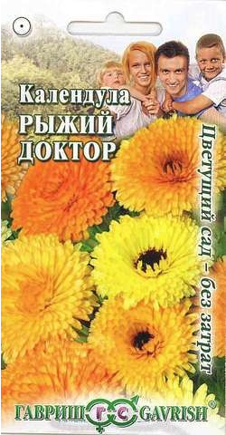 Семена. Календула «Рыжий доктор», 0,3 г